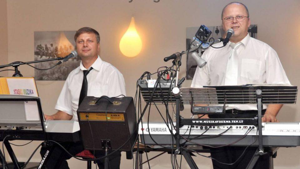 Vestuvių muzikantai Dalius Lukšė ir Stasys Vaitkevičius